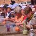 Pilgergruppe mit Lunchpaket, Petra, Jordanien