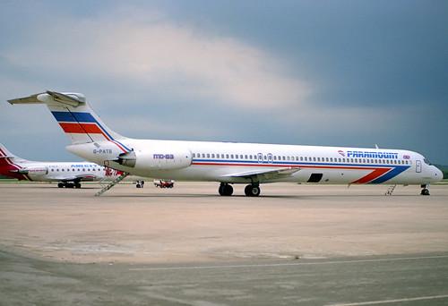 Paramount MD-83 G-PATB GRO 04/06/1989