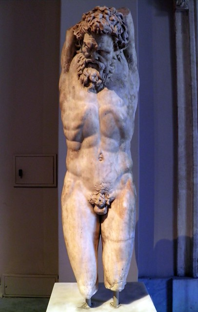 Statue of Marsyas under Apollo's punishment, Roman Period - Copy of a original from the 3rd century BC, Istanbul Archaeology Museum