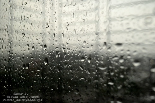 Rain on my slanted windows..