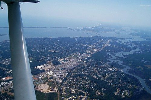 ocean mississippi airplane katrina flying flight aerial springs ms biloxi skyhawk cessna 172