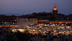 Djemaa el-Fna at night