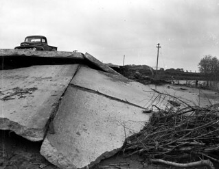 Flood damage on Missouri Route 4 (MSA)