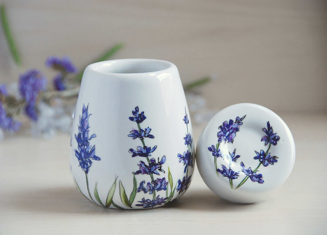 Airtight Ceramic Container Lavender Flickr Photo Sharing