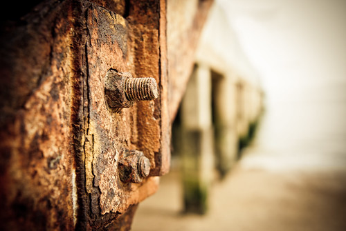 Rusted bolts (Clacton Pier)