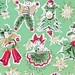 Vintage Gift Wrap Christmas Dolls