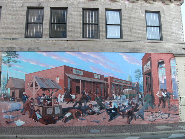 Wild west scene wall mural dothan al look at the detail for Alabama wall mural