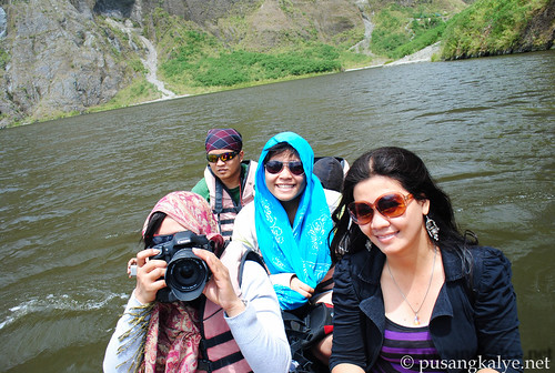 boating in the crater of Pinatubo