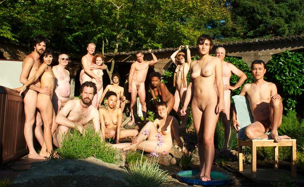 naked backyard party
