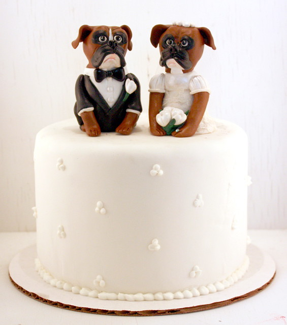 Boxer Wedding Cake Toppers