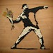 "Banksy ""Love is in the air"" (Flower Thrower) by Antigone Kourakou Mosaics"