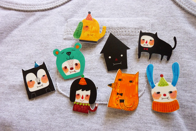 Pretty Things - Shrink Plastic Brooches