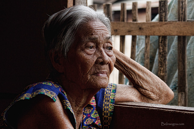 Lola, an older mature Filipino Cebuano woman, mother, grandmother and ...