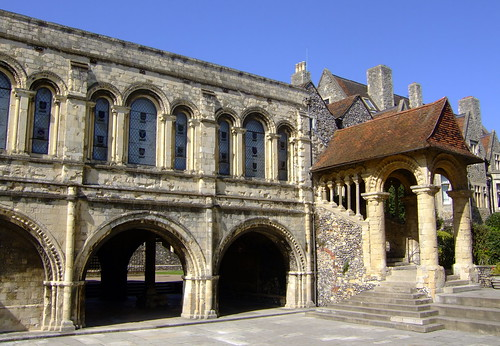 Norman Staircase and Memorial Court, King's School, Canterbury