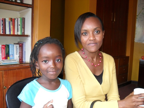 Mwendwa and her lovely daughter