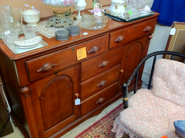 How An Antique Buffet Can Slowly Become A Bathroom Vanity Old Town Home