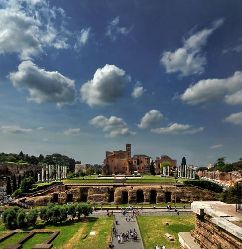 rome roma primavera nikon nuvole atmosfera turisti antichità sermatimati