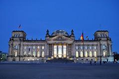 Reichstag at twilight