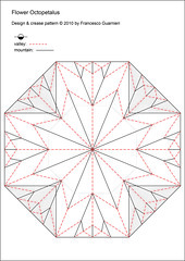 Paper Paper 26 Photos | Flower Octopetalus  (Crease Pattern) | 797