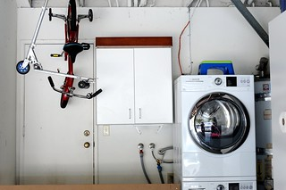 Washer/Dryer Area in Garage