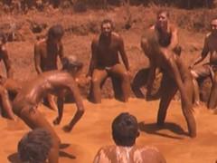 Mud Wrestling at a festival.