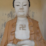 Buddha with Swastika