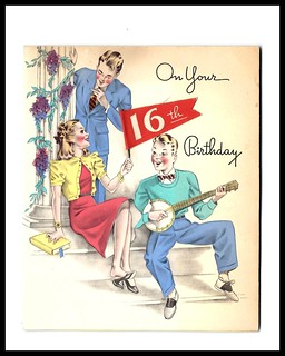 1949 Greeting Card, Sweet Sixteen