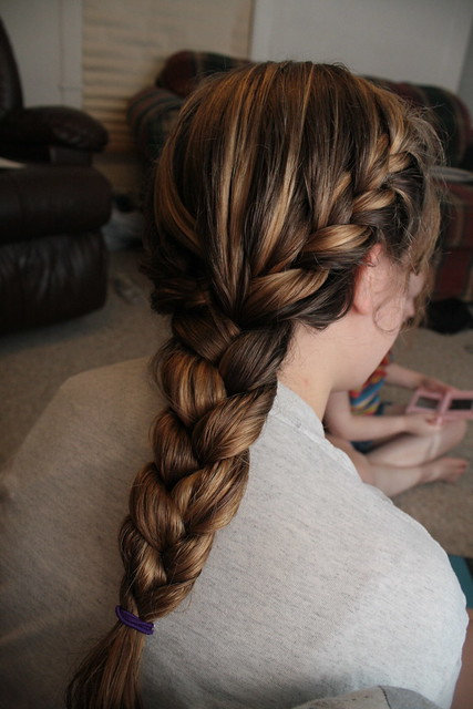 double french braid i french braided both sides and then