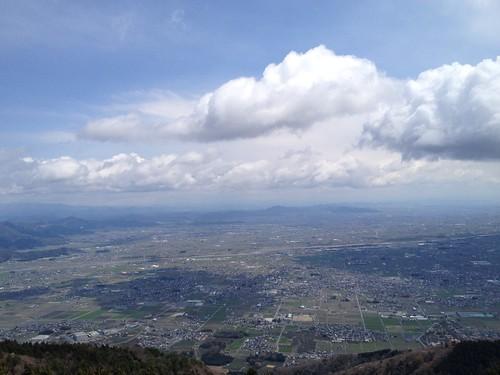 池田山 ハングライダー発進基地からの眺望