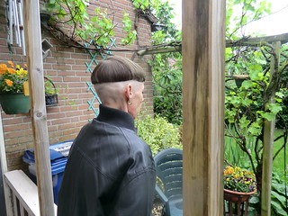 New bowlcut with shaved sides and nape + face shave april 27, 2014