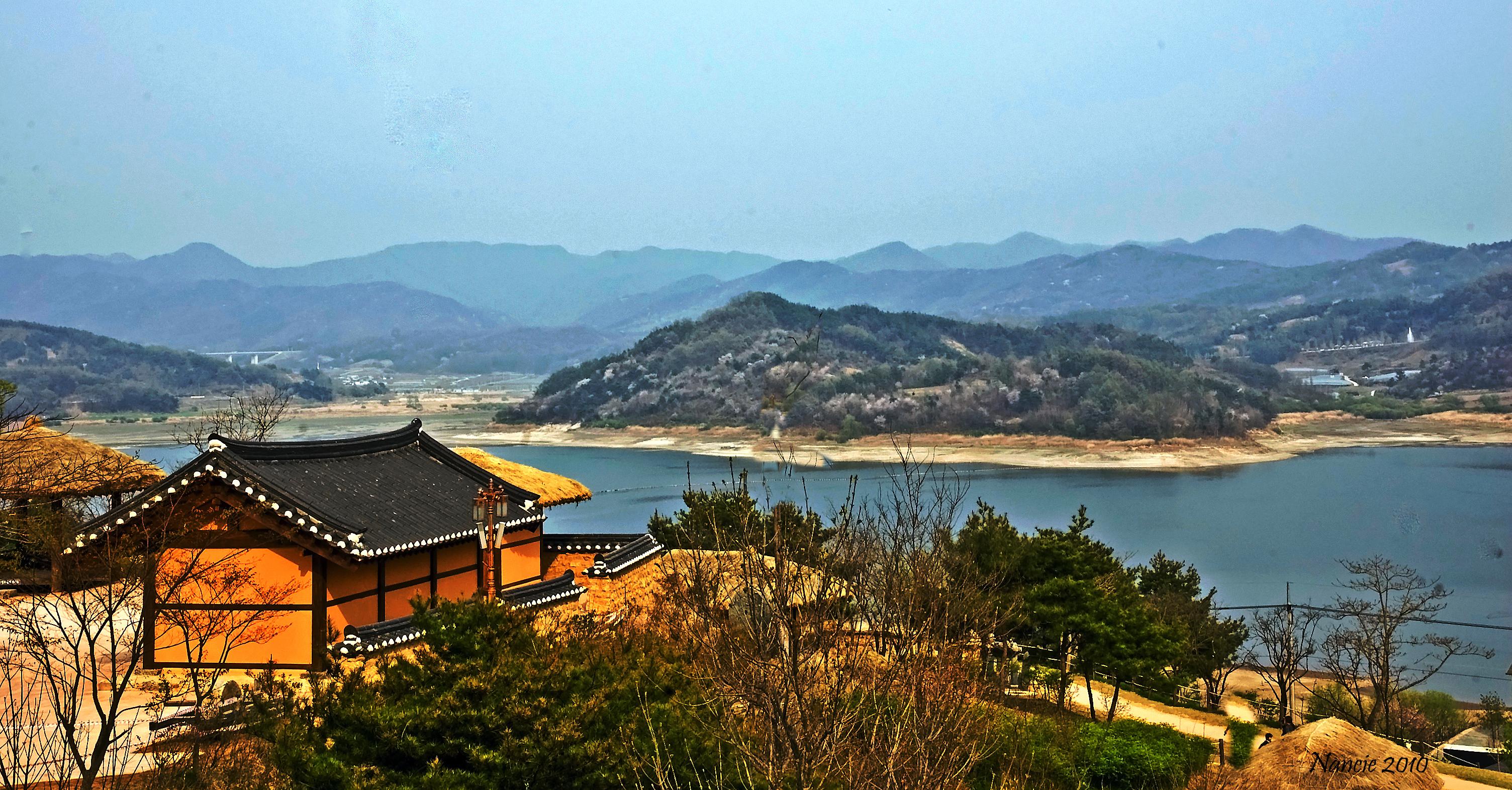 Rural Korea from a Mountain Top