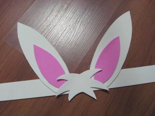 Orelhas de coelho em EVA
