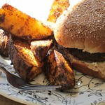 Potato Wedges [vegan], Mushroom Sandwich