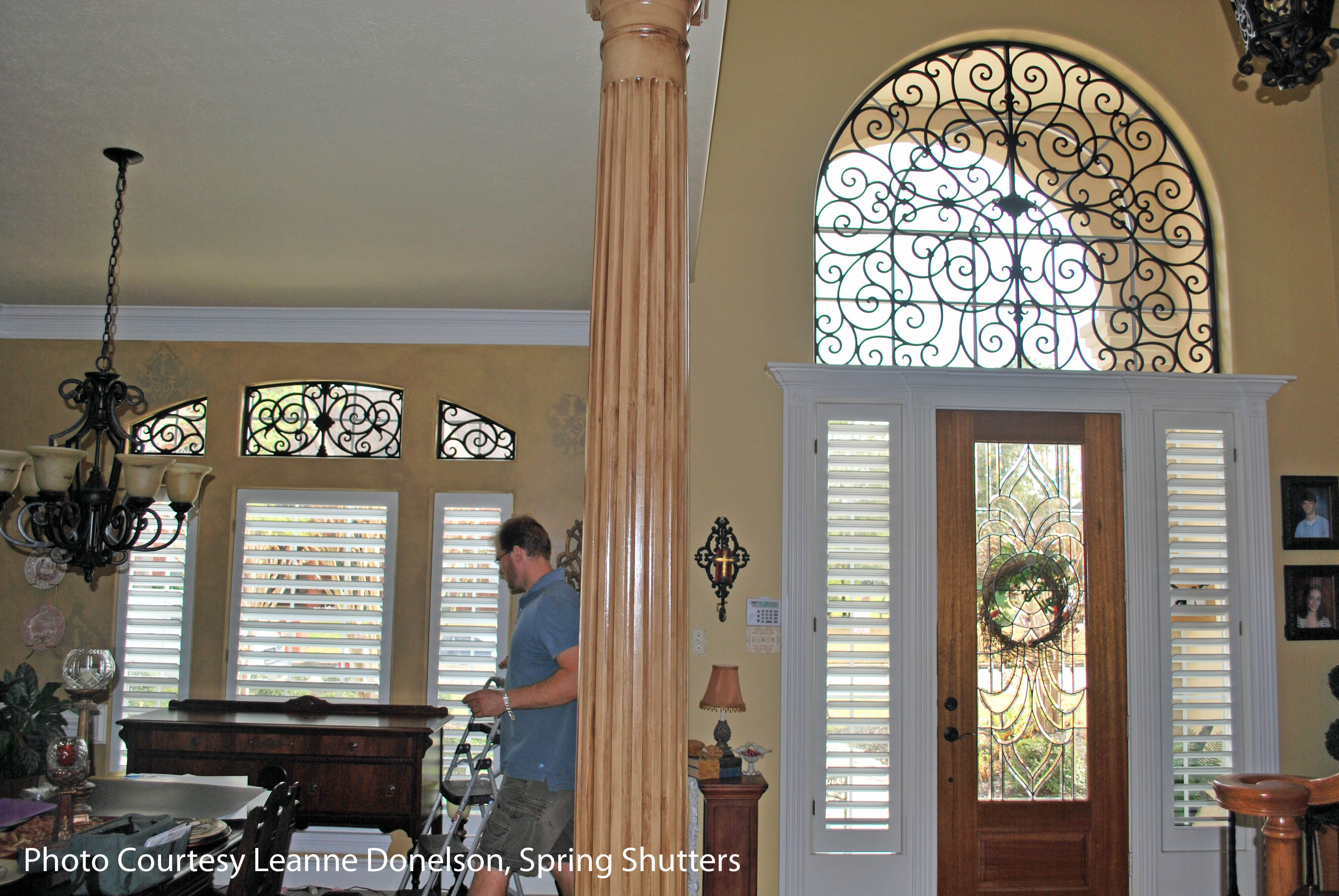 Faux Iron Window Treatment The Decorative Iron Window