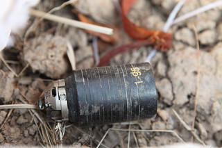 Unexploded M85 type cluster submunition (c) Stéphane De Greef, Landmine and Cluster Munition Monitor
