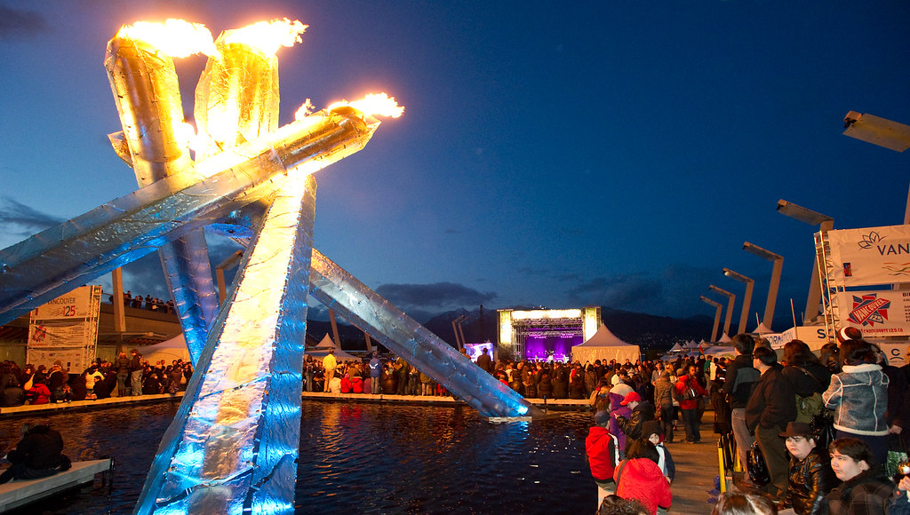 Olympic Cauldron lit for Vancouver's 125th birthday