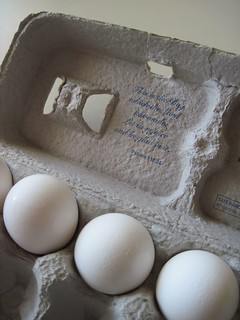 Three Eggs in Holy Carton
