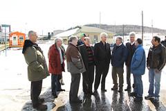Rencontre priv�e avec les maires des municipalit�s touch�es par la fermeture de la scierie PSF (Abitibi-Bowater) et des repr�sentants syndicaux