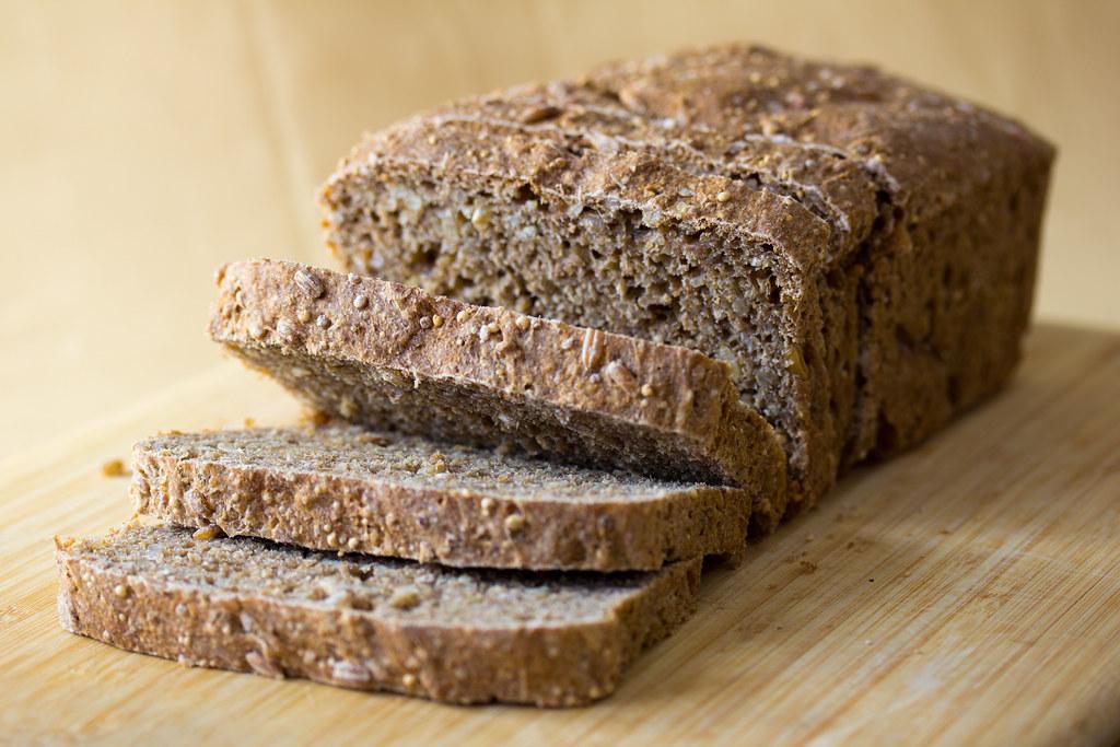 Vegan Nine Grain Whole Wheat Bread