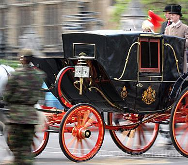 Royal Wedding dress rehearsal Staff from the Royal Mews take part in an