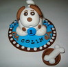 Doggy Cake Topper by katiskupcakes