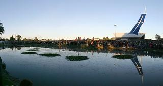 Dawn Panorama - crowds commemorate Eureka Stockade 150th anniversary in 2004