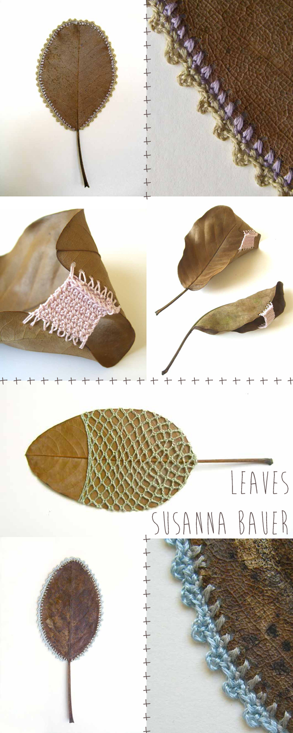 Crochet leaf art by Susanna Bauer | Emma Lamb