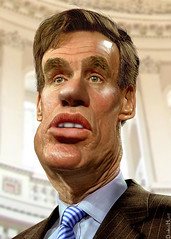 Mark Warner - Caricature by DonkeyHotey