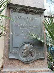 Photo of Thomas Gray grey plaque