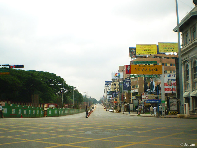 Crowdless MG Road in Bangalore