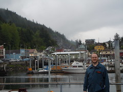 Person at Ketchikan, Alaska Dock