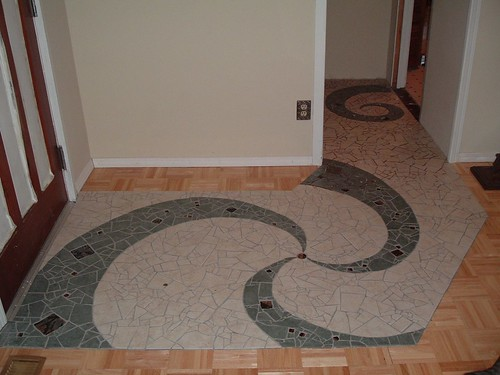Another for  @jyoseph. Mosaic floor I laid in 2004.