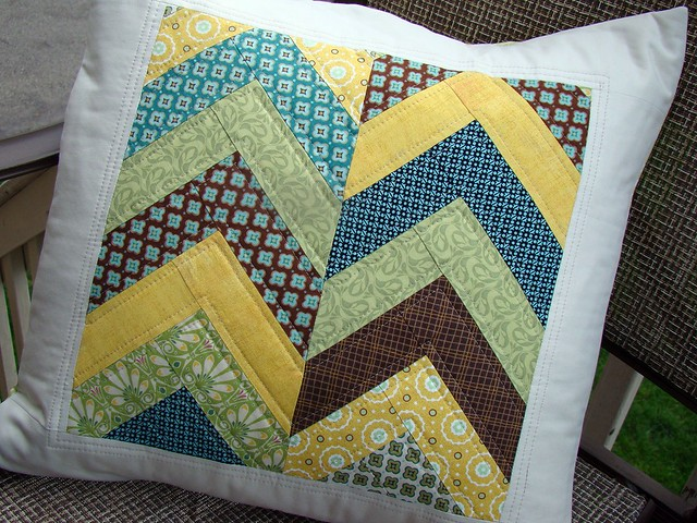 Quilted Herringbone Pillow