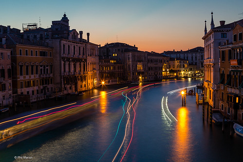 Grand Canal at sunset - Venezia Venice, Italy | by Phil Marion